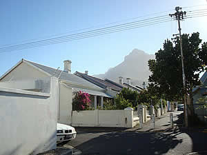 An older part of Observatory showing a typical street of its era.  Find Bellville Cape Town accommodation with its beaches and sunshine on our Bellville Cape Town accommodation page.