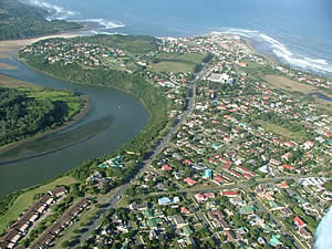 Located about 20km east of East London Gonubie is a small, rather exclusive town at the mouth of the Gqunube River with a Blue Flag beach and an international quality boardwalk.  Find Gonubie accommodation on our Gonubie accommodation page.