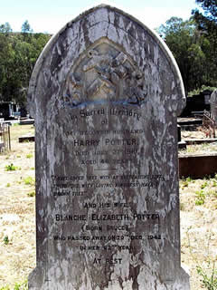 Harry Potter's grave, Cradock