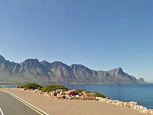 The drive from Gordons Bay to Kleinmond is a pleasure in itself, affording some of South Africa's most glorious   views of mountain and ocean.  Find Kleinmond accommodation on our Kleinmond accommodation page.