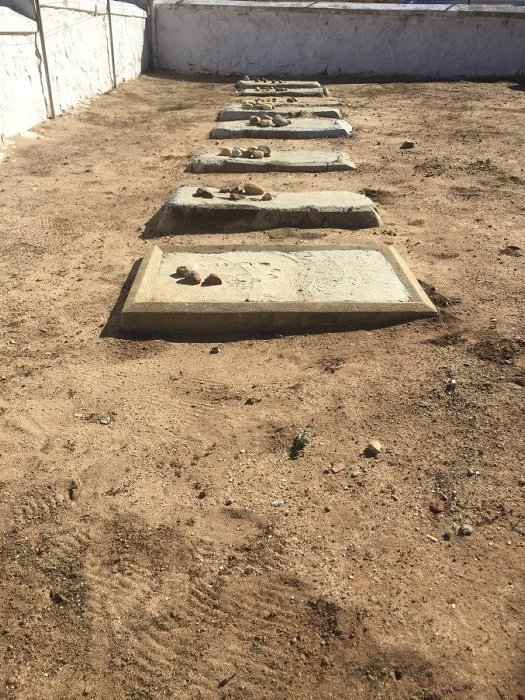 Unmarked graves which could be the last resting place for Jewish soldiers