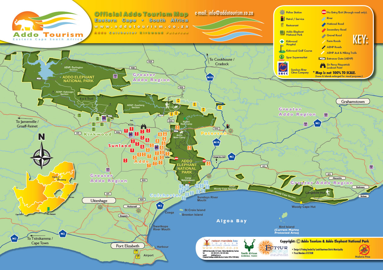 Addo Tourism Map