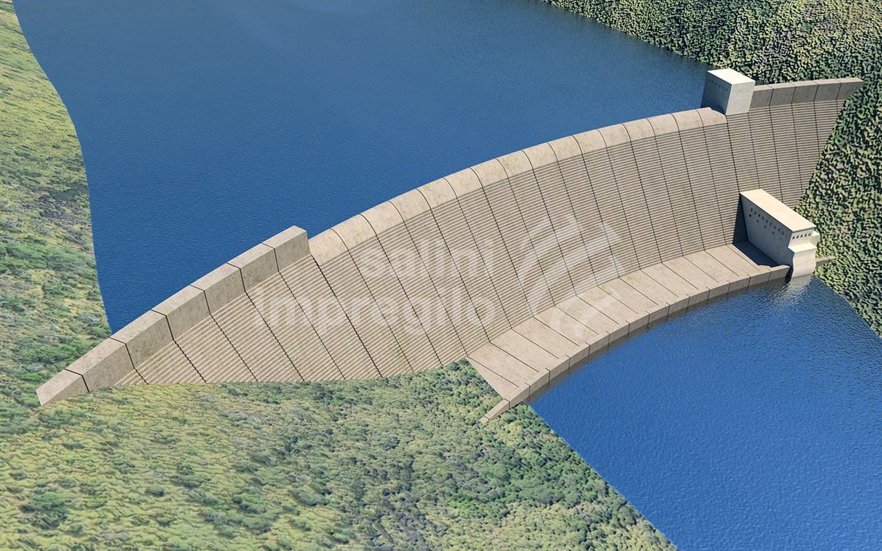 Computer Generated Image of the Dam