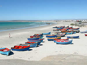 Paternoster is a long-established little fishing village on the West Coast which has become popular with those seeking a quiet, get-away-from-it-all holiday.  Its fishing industry is still active and provides an interest all of its own.  Find Paternoster accommodation on our Paternoster accommodation page.