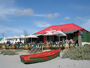 Other cottages in Paternoster have been converted into small business premises to service the increased population or, like this one, a beachside restaurant.  Find Paternoster accommodation on our Paternoster accommodation page.