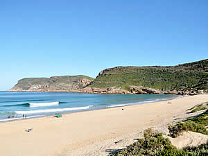 Plettenberg Bay is one of the top spots for holidaymakers on South Africa's Garden Route thanks to its sandy   beaches, benign climate and access to the hinterland.  The furthest point is the scenic Robberg.  Find   Plettenberg Bay accommodation on our Plettenberg Bay accommodation page.