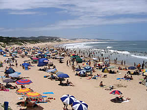 Long sandy beaches make Port Alfred a magnet for sun worshippers and families enjoying a holiday on South Africa's Sunshine Coast.  Find Port Alfred accommodation on our Port Alfred accommodation page.