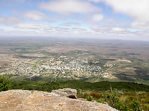 Somerset East from the top of the Boschberg