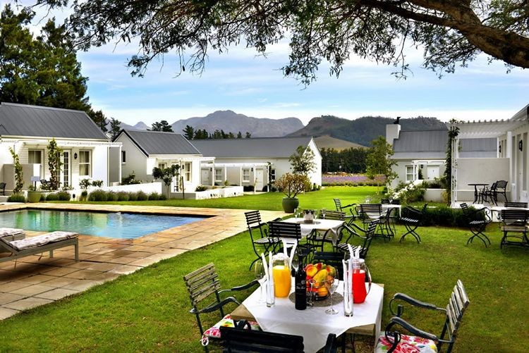Franschhoek accommodation lavender farm for Best private dining rooms cape town