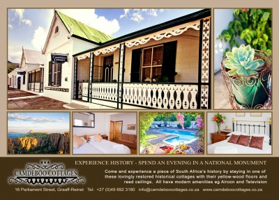 Camdeboo Cottages & Local Guided Tours Graaff-Reinet Accommodation